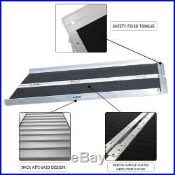 4ft Folding Aluminum Mobility Scooter Carrier Wheelchair Ramp 48 x 28 600lbs