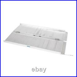 4ft Folding Portable Aluminum Wheelchair Scooter Mobility Ramp 600 lbs Capacity
