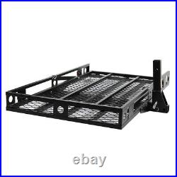 500Lbs Steel Mobility Carrier Wheelchair Pedal Scooter Racks Carrier Ramp Black