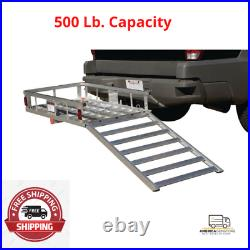 500 lb. Capacity Aluminum Mobility Wheelchair and Scooter Carrier