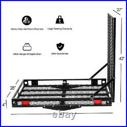 500lb Heavy Duty Wheelchair Hitch Carrier Mobility Electric Scooter Loading Ramp