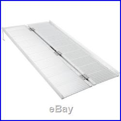 5 Aluminum Loading Ramp Folding Wheelchair Scooter Mobility Non-Slip