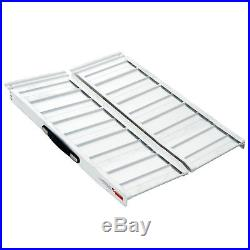 5' Portable Wheelchair Ramp Scooter Mobility Access Carrier Aluminum