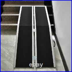 6FT Aluminum Folding Wheelchair Ramp Non-skid 4Wheeled Mobility Scooter Stable