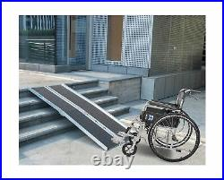6FT Non-Skid Traction Folding Aluminum Wheelchair Ramp Scooter Mobility Handi