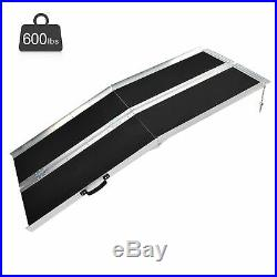 6Ft Aluminum Wheelchair Threshold Ramp Folding Portable Mobility Scooter Carrier