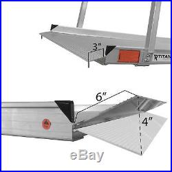 6' Aluminum Wheelchair Entry Ramp & Handrails Surface Scooter Mobility USED