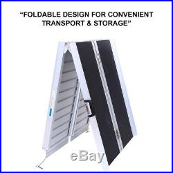 6 Foldable Stable Utility Loading Ramp for Wheelchairs Scooters Mobility 600 lb