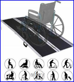 6' Portable Folding Aluminum Wheelchair Ramp Mobility Scooter With Handle Used