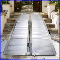6' Portable Folding Aluminum Wheelchair Scooter Ramp Stairs Threshold Mobility