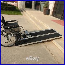 6' ft Folding Aluminum Multifold Wheelchair Scooter Mobility Ramp portable 72
