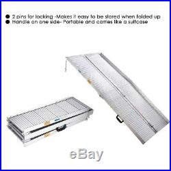 6ft Aluminum Wheelchair Ramp Folding Mobility Suitcase Threshold Scooter Carrier