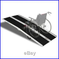6ft Folding Aluminum Mobility Scooter Carrier Wheelchair Ramp 72 x 28 600lbs
