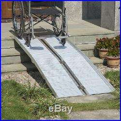 6ft Folding Aluminum Wheelchair Ramp Scooter Portable Mobility Assist