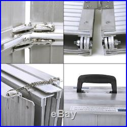6ft Portable Folding Aluminum Threshold Mobility Wheelchair Ramp Scooter