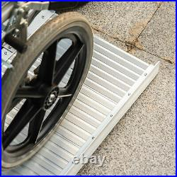 6ft Wheelchair Ramp Aluminium Folding Mobility Scooter Portable Loading Ramps