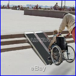 72'' Aluminum Folding Loading Wheelchair Scooter Mobility Ramp Portable Non-Slip
