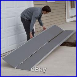 7' Aluminum Portable Multifold Wheelchair Scooter Mobility Ramp