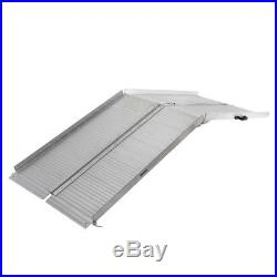7 Folding Mobility Wheelchair Scooter Threshold Ramp Portable Aluminum