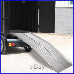 7' ft Aluminum Folding Wheelchair Scooter Mobility Portable Ramp For Handicap