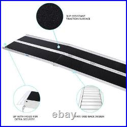 8FT Non-Skid Two-section Wheelchair Ramp Scooter Mobility Access Handicap Ramps