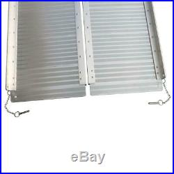 8FT Portable Aluminum Wheelchair Ramp Loading Scooter Mobility Handicap Ramps US