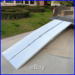 8' Portable Aluminum Wheelchair Ramp Loading Scooter Mobility Handicap Ramps