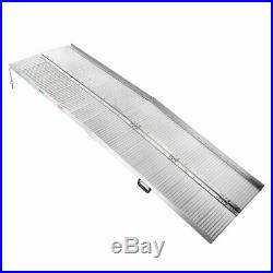 8ft Aluminum Portable Folding Wheelchair Ramp Mobility Scooter Access Handle US