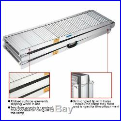 8ft Aluminum Portable Folding Wheelchair Ramp Mobility Scooter Access with Handle