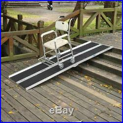 96 Ramp Aluminum Portable Mobility Scooter Carrier Folding Wheelchair Access