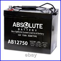 AB12750 12V 75AH 45821 Grp 24 Battery Scooter Wheelchair Mobility Deep Cycle