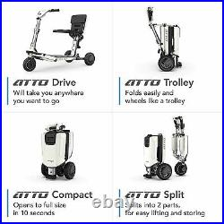 ATTO Deluxe FOLDING Lightweight Mobility Scooter Moving Life Travel Wheelchair
