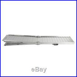 Aluminum Briefcase Wheelchair Scooter 7 ft Mobility Ramp Portable Multi-fold
