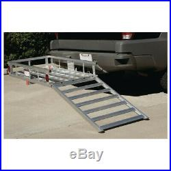 Aluminum Mobility Scooter Wheelchair Carrier with Ramp Hitch Cargo Carrier Rack