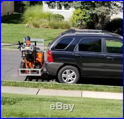 Aluminum Mobility Scooter Wheelchair Carrier with Ramp, Hitch Cargo Carrier Rack