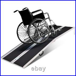 Aluminum Non-skid Multifold Wheelchair Ramp Mobility Scooter Carrier Steps Truck