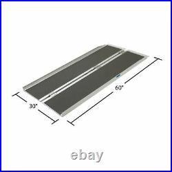 Aluminum Portable 5' Folding Mobility Wheelchair Scooter Ramp