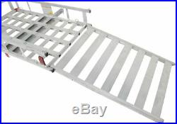Aluminum Tow Trailer Hitch Cargo Carrier Mobility Motor Scooter Wheelchair Ramp