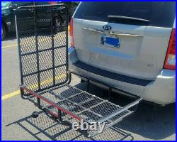 Cargo Carrier 500Lb Electric Wheelchair mobility scooter ramp hitch travel trip