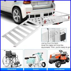 Cargo Carrier Hitch Mounted Wheelchair Scooter Mobility Carrier Lift Rack Ramp