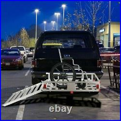Cargo Carrier Hitch-mounted Mobility F Wheelchair/Scooter/Lawn Mower/Snow Blower