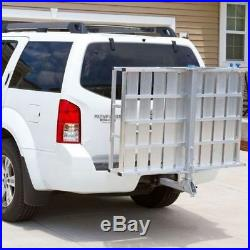 Cargo Carrier Mobility Folding Ramp Heavy Duty Extra Large Wheelchair Scooter US