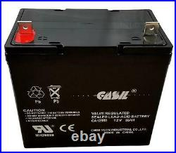 Casil 12V 55Ah Scooter Wheelchair Mobility Deep Cycle SLA AGM Battery