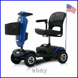 Compact Mobility Scooter withWindshield LED Headlight Electric Travel Wheel Chair