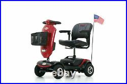 Compact Mobility Scooter with Windshield LED Light Electric Travel Wheel Chair