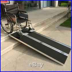 Durable Lightweight Fold Utility Loading Ramp for Wheelchair Scooter Mobility US