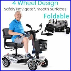 Electric Drive Medical Power Scooter 4Wheel Travel Mobility Wheelchair for Adult