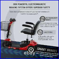 Electric Mobility Scooter 3-Wheel Wheelchair Equal for Seniors Adults w Injuries