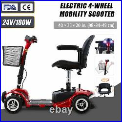 Electric Mobility Scooter 4 Wheel Wheelchair Equal for Seniors Adults w Injuries
