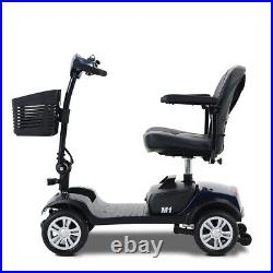 Electric Scooter Mobility Scooter 4 Folding Wheel Wheelchair Powered Travel